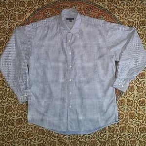 Burberry Gingham Check Shirt w/ Contrast Inside, M